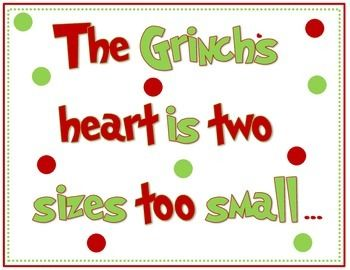 This sign is to use on a Christmas bulletin board along with the Grinch Bulletin Board Sign 2.
