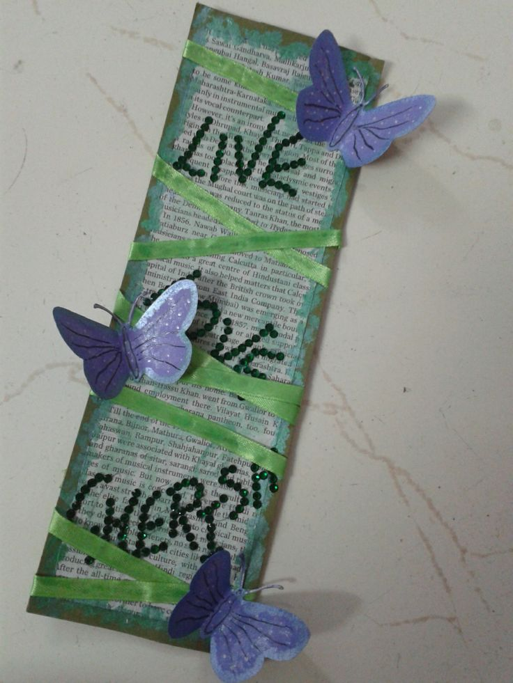 "Because it is good to mark important pages and remember those words- ""live, love, cherish"""