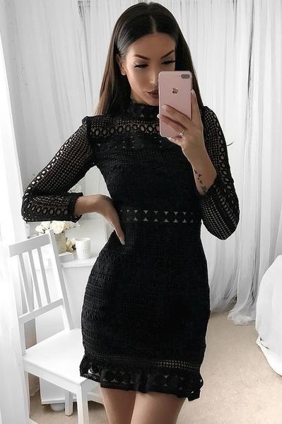 Riverdale Lace Dress - Black