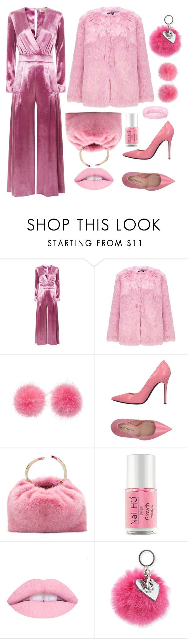 """Furry in pink"" by forgetrules ❤ liked on Polyvore featuring Temperley London, Miss Selfridge, Wild & Woolly, Marco Barbabella, Valentino and Bari Lynn"