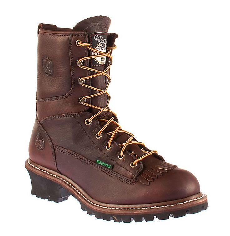 Georgia Boot Logger Plain Toe Work Boots for Men | Bass Pro Shops