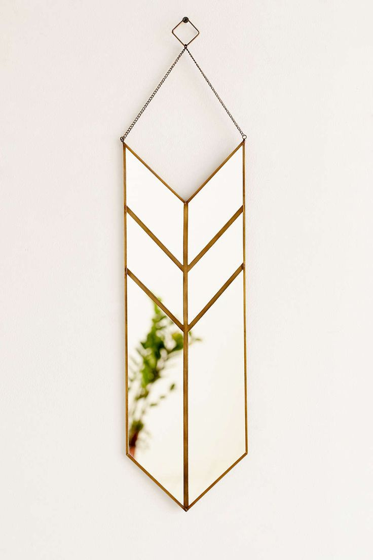 Want to make this but bigger! Magical Thinking Hanging Pennant Mirror