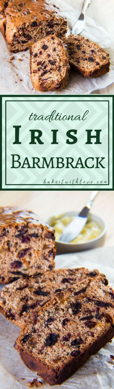 If ever there was an OMGosh sweet bread slash fruit cake, then this traditional Irish Barmbrack (Fruit Bread) would deservedly hold that name! BakeItWithLove.com | #traditional #Irish #barmbrack #teabrack #brack #quickbread #fruitcake #sweetbread st patricks day food #halloween
