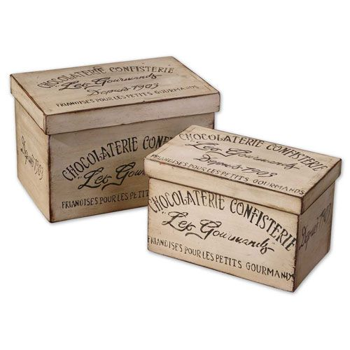 Uttermost Chocolaterie Boxes, Set of Two