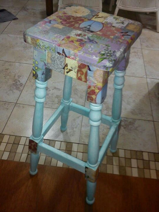 Small Table Decoupage