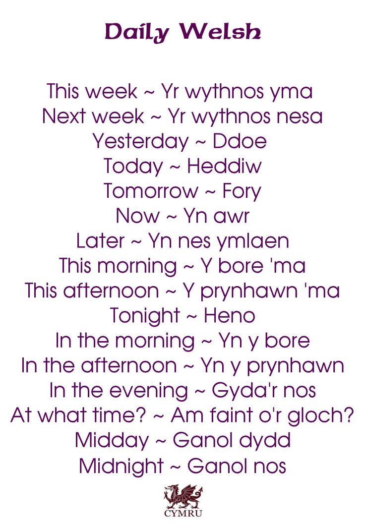 Daily Welsh: https://www.facebook.com/photo.php?fbid=643150635707240&set=a.134735423215433.17340.131420090213633&type=1