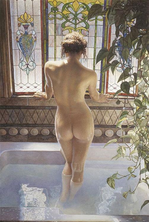 """Titled """"Morning Bath"""" by Steve Hanks"""