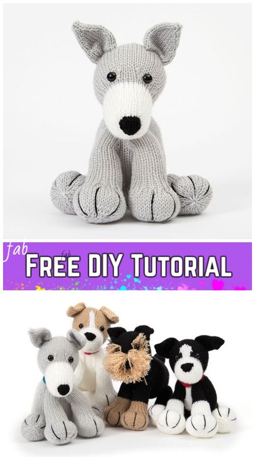 Knit Amigurumi Dog Toy Sofites Free Knitting Patterns | Knitting ...