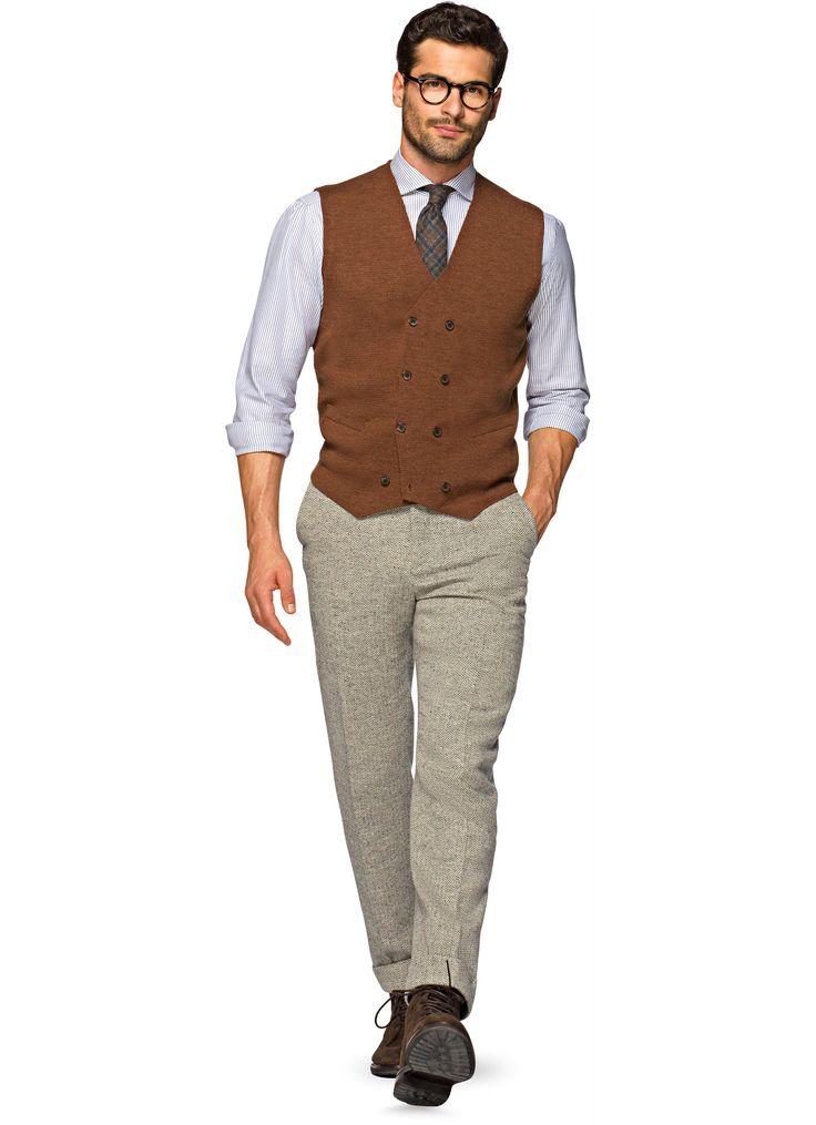 Knitted Waistcoat Rustico Sw566   Suitsupply Online Store - Credo taglia S, quello che ho già mi va un po grande