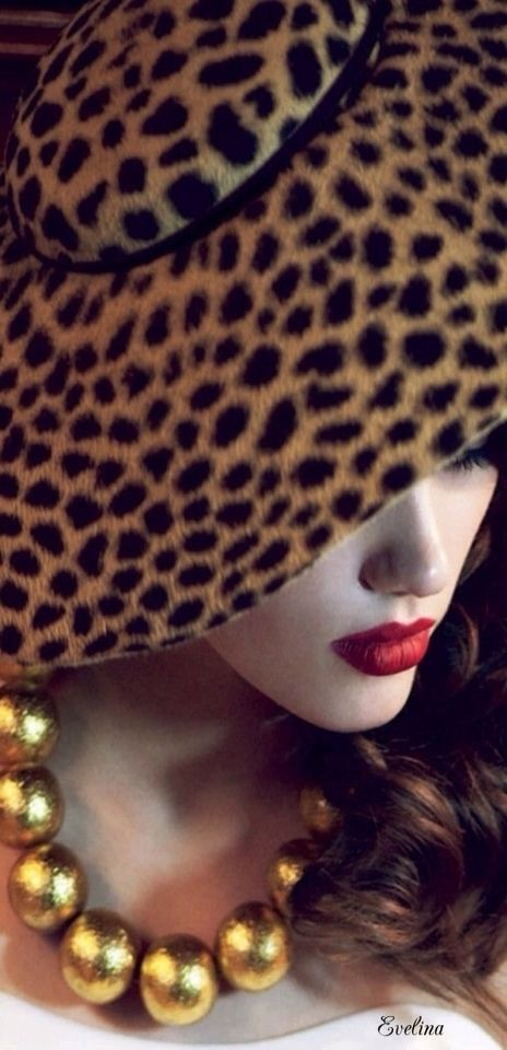 Who knew cheetah could look so sophisticated♥♥♥