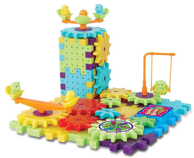 Interlocking Building Blocks and Gears 81 Pcs Construction Toy Set for Children Kids Boys Girls - Motorized Spinning Wheels - Build Variations with Funny Puzzle Bricks Gear Wheels Brand Ideas In Life, Brain Teasers - Amazon Canada