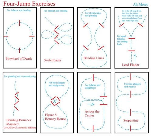 Jumping exercises to improve horse and rider.