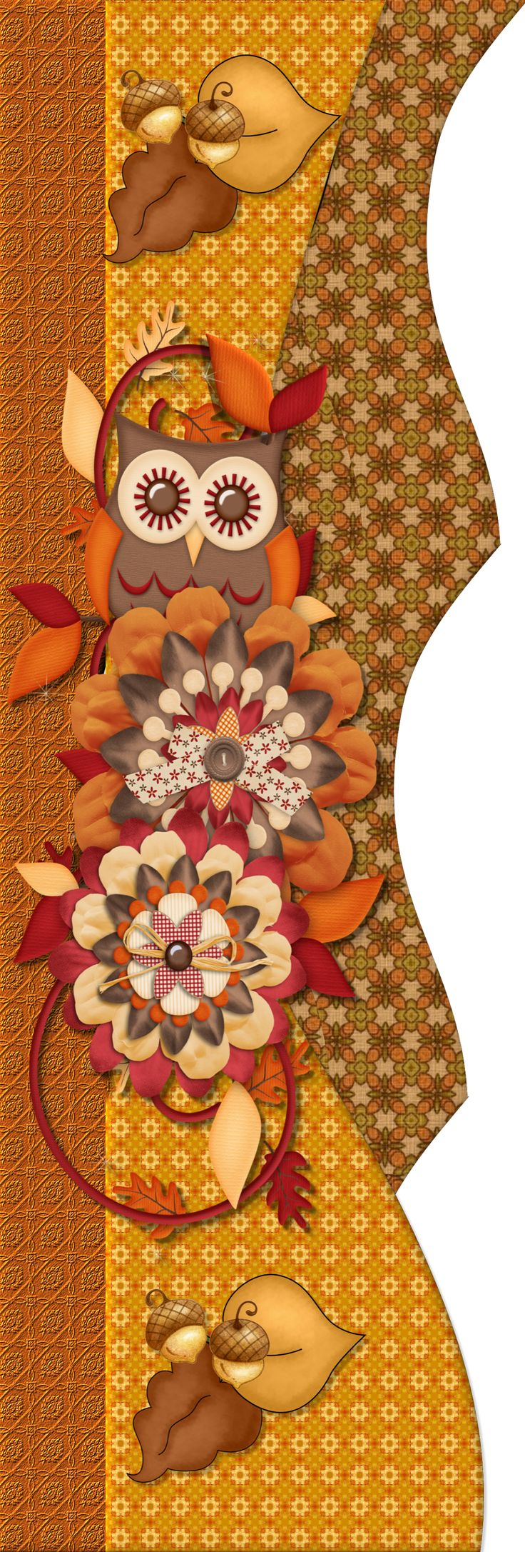 Scrapbook ideas with flowers - Autumn Fall Owl Scrapbook Bordersscrapbook Embellishmentsscrapbook Layoutsfall