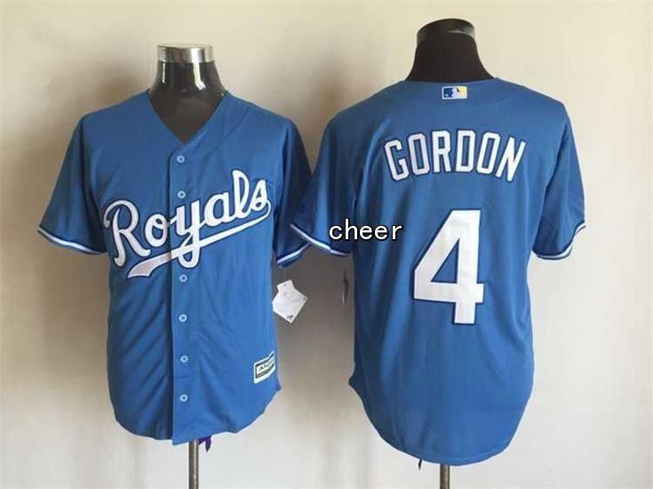 MLB Men's Kansas City Royals #4 Alex Gordon Blue 2015 New Fabric Jersey · Alex  GordonKansas City RoyalsNfl JerseysLight ...