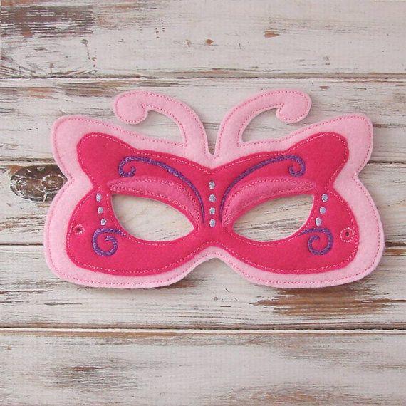 Butterfly Mask  Felt  Kids Mask  Costume  от AnnsCraftHouse