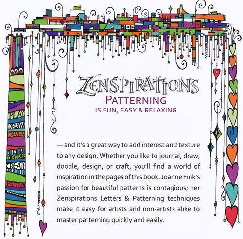 """""""Zenspirations, Letters & Patterns by Joanne Fink"""""""