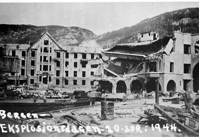 Bergen Eksplosjonsdagen 20 apr. 1944 fra marcus.uib.no