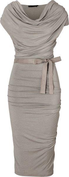 Beautiful Womens Dress gray ruching