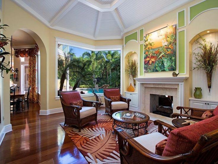 315 3rd Ave N, Naples, FL 34102 | Tropical Living Room In Olde Naples