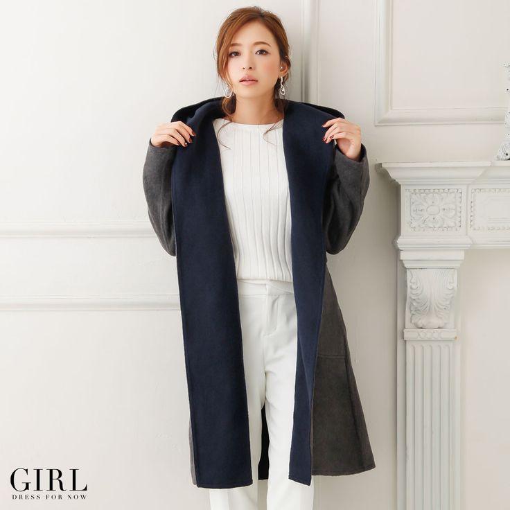 GIRL リバーシブルコート ●価格 19,224円(税込)●サイズ:M/L ●カラー:ベージュ/ネイビー/ブラック