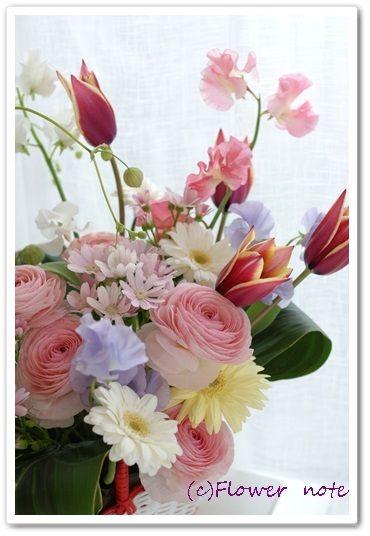 『【今日の贈花】卒業・15歳の春』 http://ameblo.jp/flower-note/entry-11501031453.html