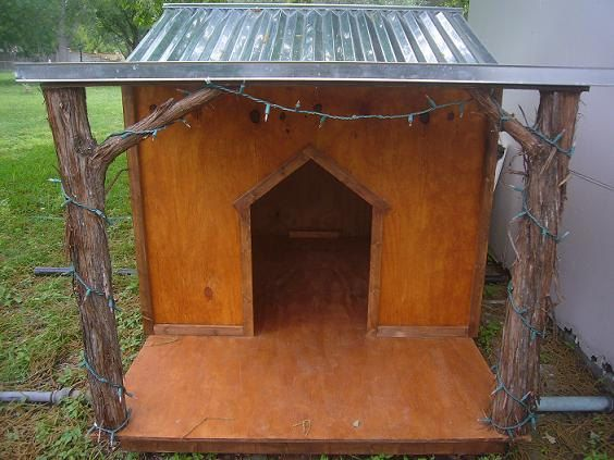Custom Rustic Cabin  Beach style Dog House by LazaWoodWorks, I love this dog house...were makin it!