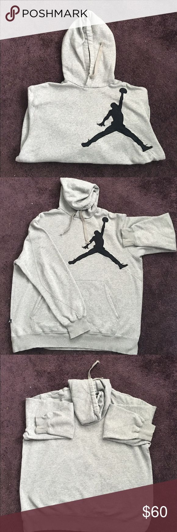Nike Air Jordan sweatshirt Comfy Nike Air Jordan sweatshirt with pocket and drawstring. Great condition. Nike Shirts Sweatshirts & Hoodies