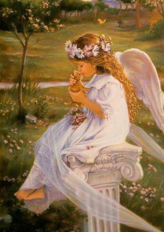 Красивые открытки ангелы, рисуем цифрам поздравляем