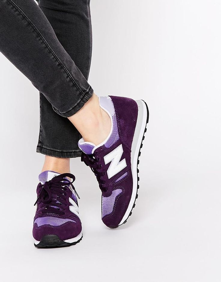 new balance 373 modern classics black with purple