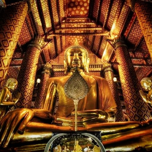 700 year old Buddha statue in Thailand - Buddha's Palm Clothing Co
