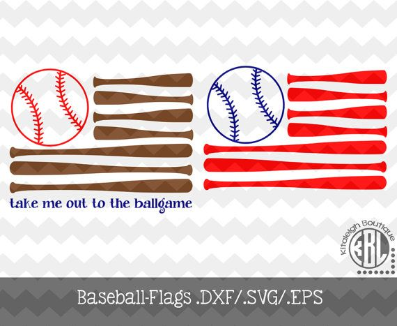 Baseball Flag .DXF/.SVG/.EPS Files for use by KitaleighBoutique