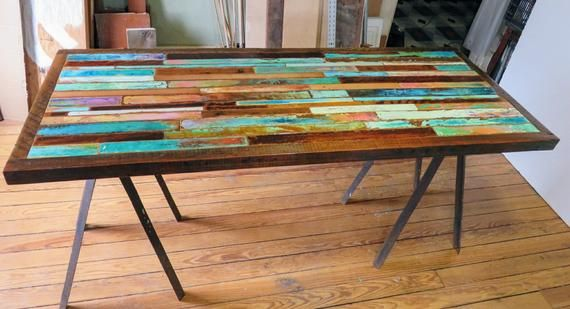 Painted Barn Wood Dining Table Top Farmhouse Kitchen Table Etsy Dining Table Top Wood Dining Table Painted Kitchen Tables