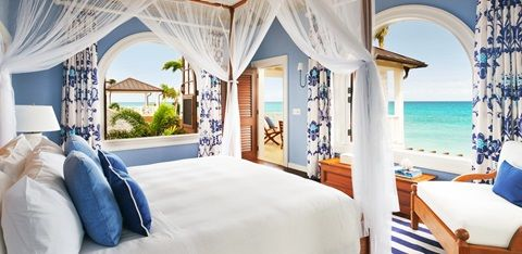 Jumby Bay Estate Homes | Antigua Accommodations. Frangipani Private 4 Bedroom Home. A lovely tropical feel. Stunning interiors and lush landscaped gardens