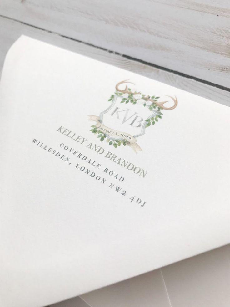 Custom Rustic Monogram Rustic Monogram Wedding Invitation