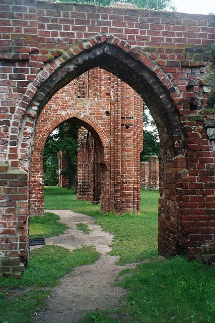 Greifswald, Germany - Kloster Eldena by zug55, via Flickr.  Ruins of Eldena monastery which was founded in 1199 by Cistercian monks. The monastery was heavily damaged by Wallenstein's troups in the Thirty Years War (1618-48) and has been withering away ever since. The ruins have claimed late fame because they inspired the romantic painter Caspar David Friedrich (1774–1840).