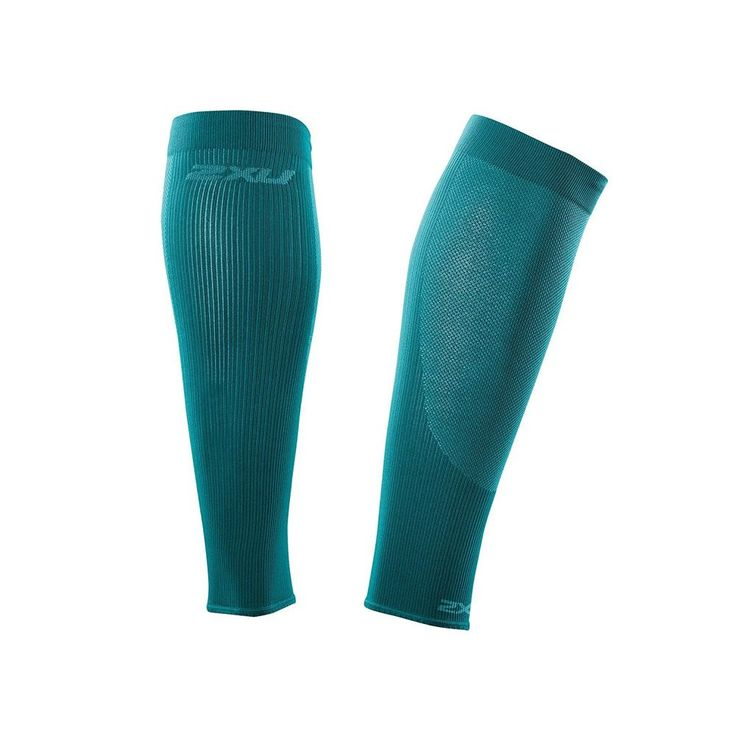 2XU Compression Performance Run Sleeves Peacock Running Track Fitness Training  #2XU