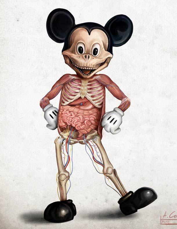 Disney Inhuman Anatomy – par Alessandro Conti