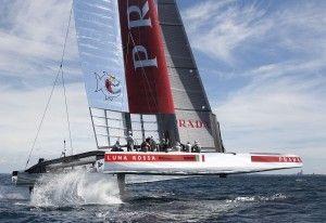 Luna Rossa in Sardinia for training, find more: http://en.luxuryholidaysinsardinia.com/sardinia-news  #sardinia #lunarossa #prada #amerciancup #sea #cagliari