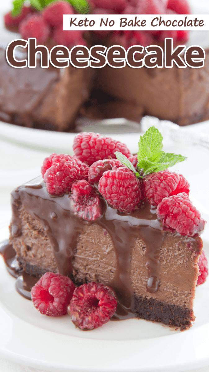 """""""Dieser reichhaltige und dekadente No Bake Chocolate Cheesecake mit …"""