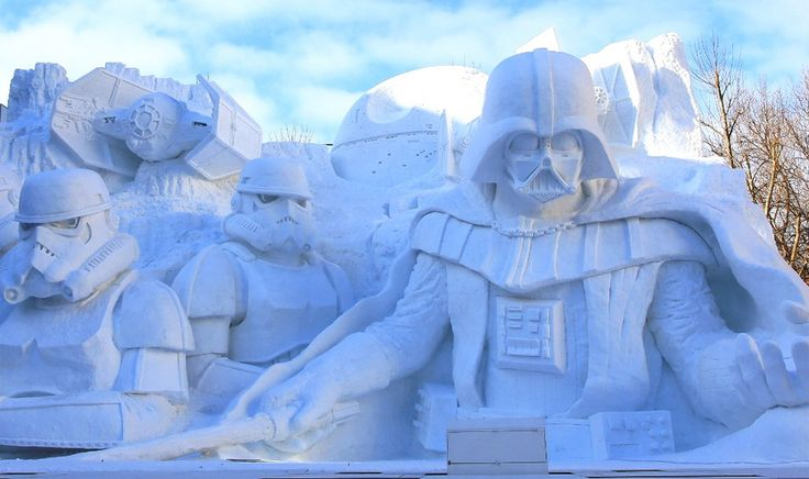 star-wars-snow-sculpture,-japan
