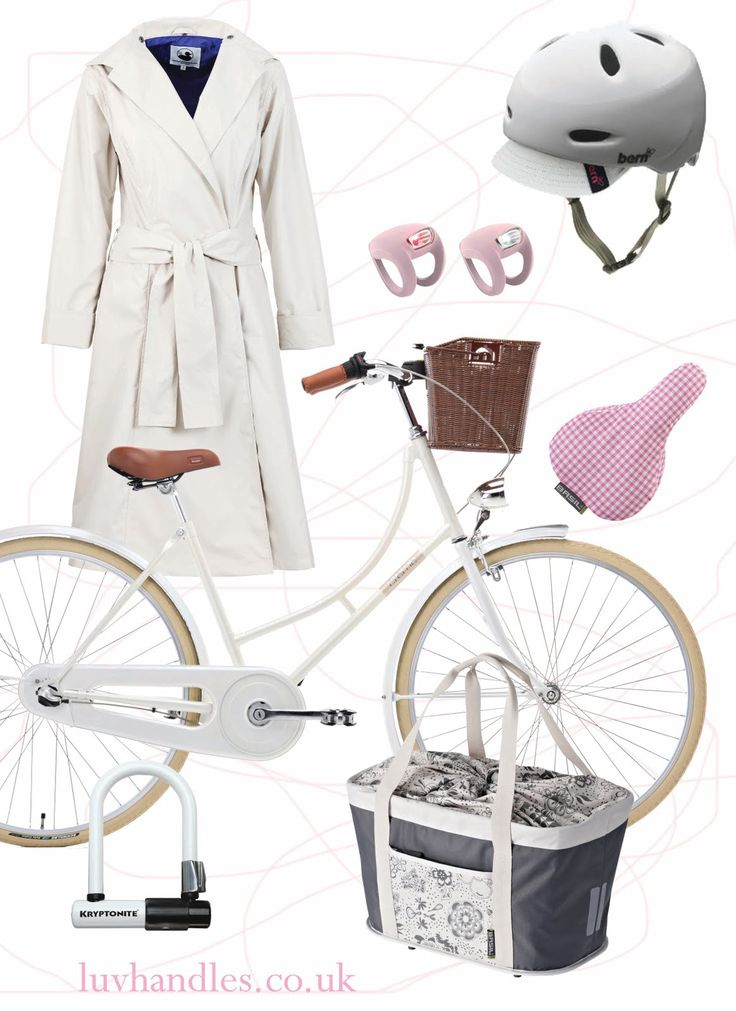 Ladies Bike Fashion complete with Dutch styled HolyMoly made my Creme bicycles, WODB Mac, Bern helmet, Knog Frog lights, Basil seat cover, Basil single pannier/bag
