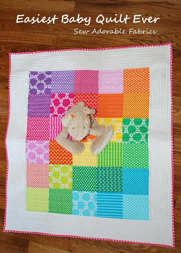 Easy Baby Quilt Tutorial | awesome instructions on the full process of making a quilt.