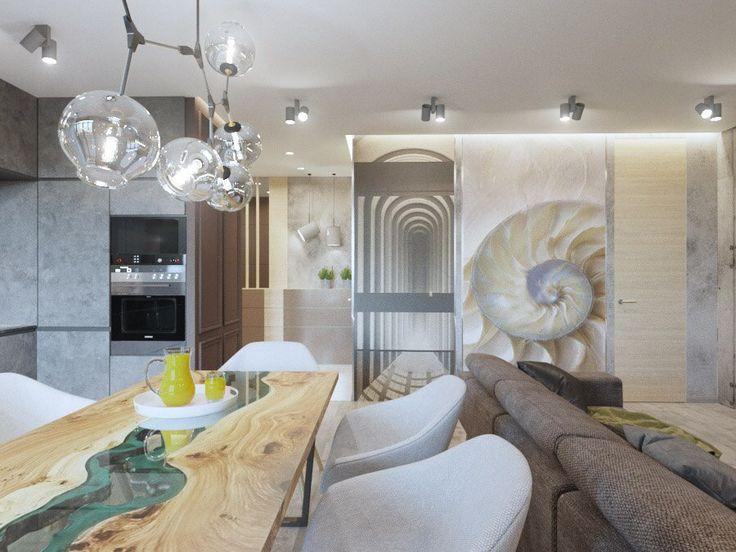 Деревянное изголовье, ТВ зона в спальне, квартира с элементами LOFT, спальня в современном стиле, кирпич в интерьере, дизайн-проект спальни, обеденная зона, кухня-студия, гоститная-студия, интерьер спальни, дизайн-проект удаленно, декор стены в изголовье кровати