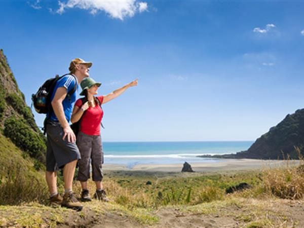 AUCKLAND WEST COAST TOURS HALF DAY. Auckland Tours that show you the famous Waitakere Ranges on Auckland's West Coast.  Walk along the deserted shore, with the sound of the sea in your ears, the wind in your hair and the salt spray on your face.  TIME UNLIMITED TOURS.