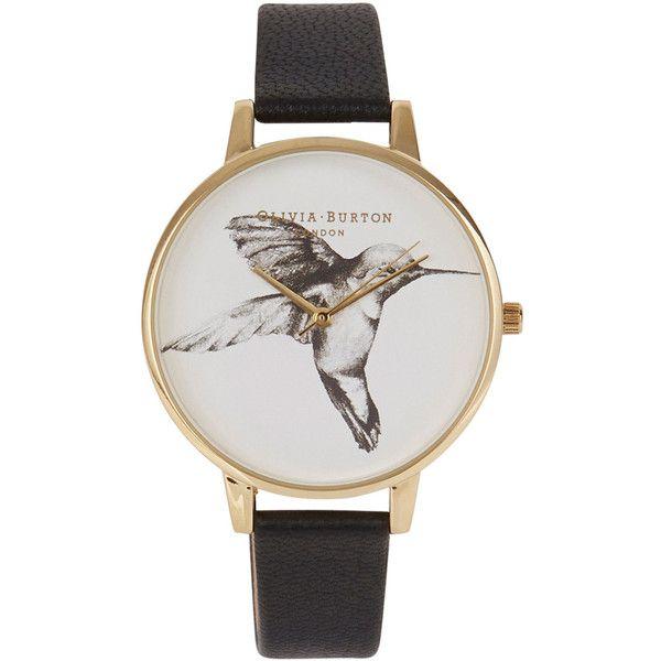 Olivia Burton Hummingbird Gold Plated Watch found on Polyvore