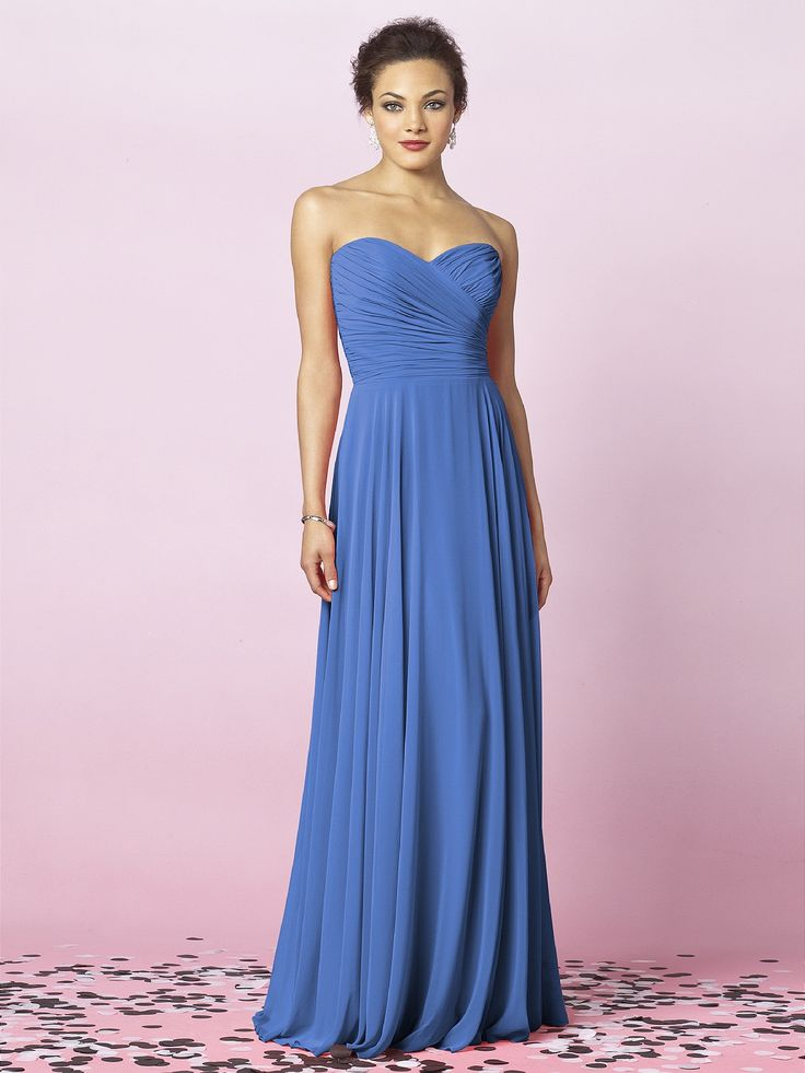 Cornflower blue I'm looking to buy this dress new or used. Style F15555 Maker Davids Bridal, cornflower blue