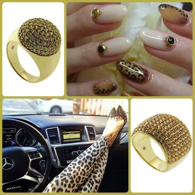 Oxette Style..!! Animal prints & Gold  #ring