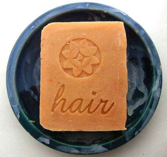 Orange Lavender Jojoba Shampoo Bar   Vegan Shampoo by AquarianBath