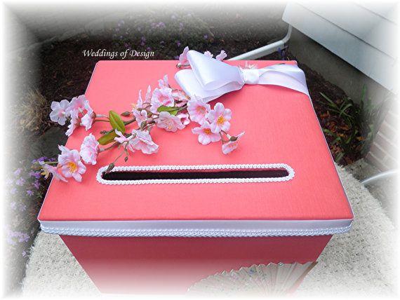 Wedding SAKURA Japanese Style Money Card Box by WeddingsofDesign, $89.00
