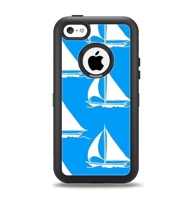 The Blue Vector Sailboats Apple iPhone 5c Otterbox ...